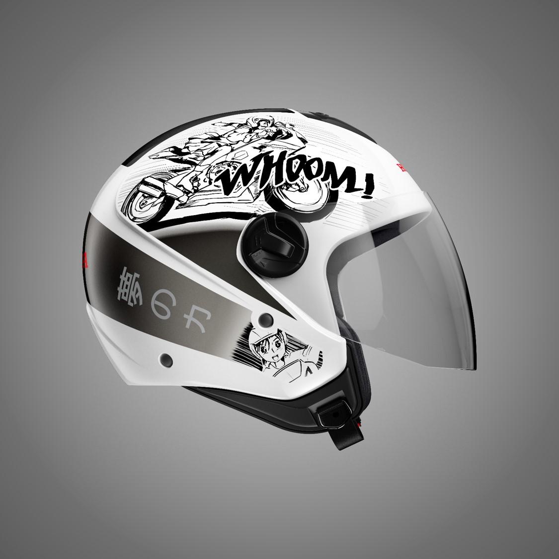 5bf83cb8b4068 Honda lança linha de capacetes inspirados na cultura japonesa